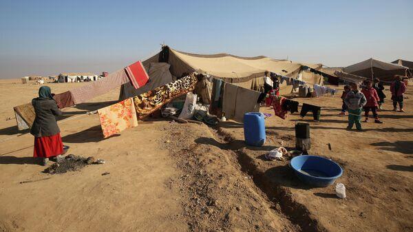 Дети в лагере беженцев в Ираке