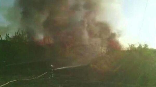 Ликвидация пожара на ереванском аэродроме Эребуни
