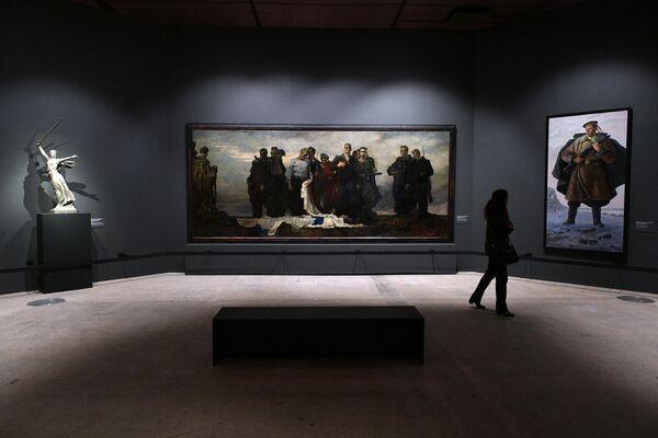 Картина Андрея Мыльникова Клятва балтийцев на выставке Память поколений: Великая Отечественная война в изобразительном искусстве