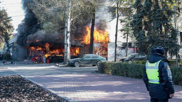 На месте взрыва в Бишкеке. 8 ноября 2019