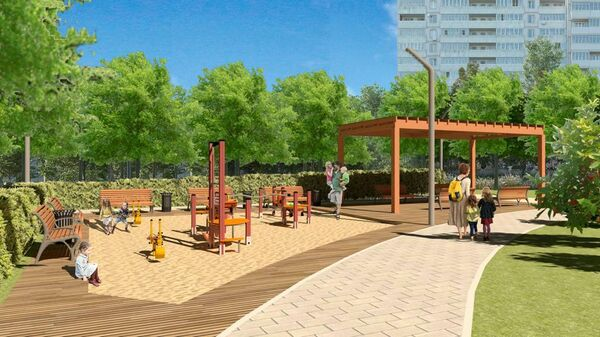 Проект благоустройства сквера Победы в районе Зябликово