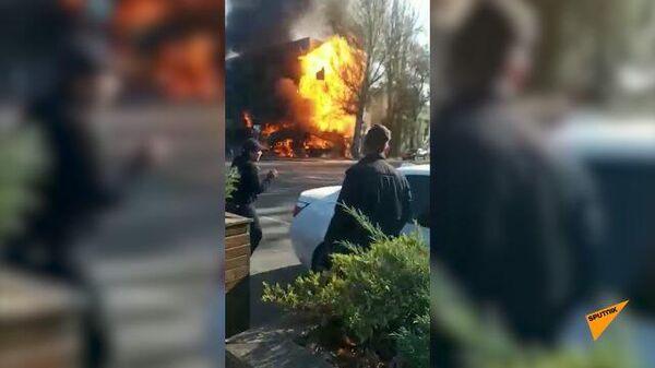 Кадры взрывов в центре Бишкека