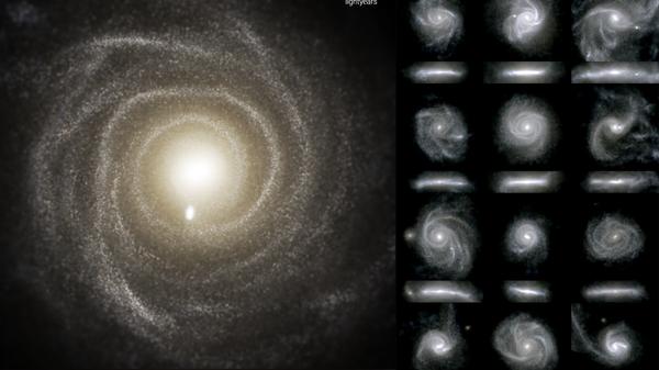 Результаты моделирования 16 галактик