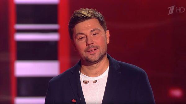 Певец Дмитрий Клинаев во время слепых прослушиваний на шоу Голос