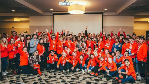 Участники первого Всероссийского форума выпускников детских домов в Астрахани