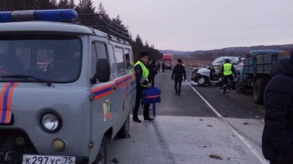 ДТП в Забайкальском крае у поселка Агинское, где погибли 7 человек