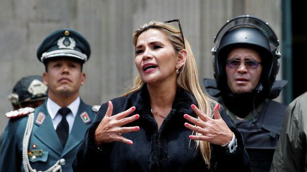 Временный президент Боливии Жанин Аньес в Ла-Пасе