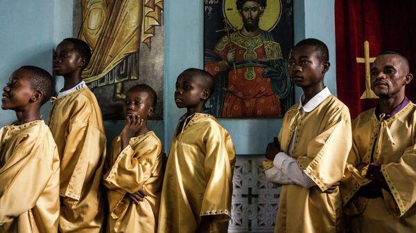Первая греческая православная церковь в Кананге, Конго