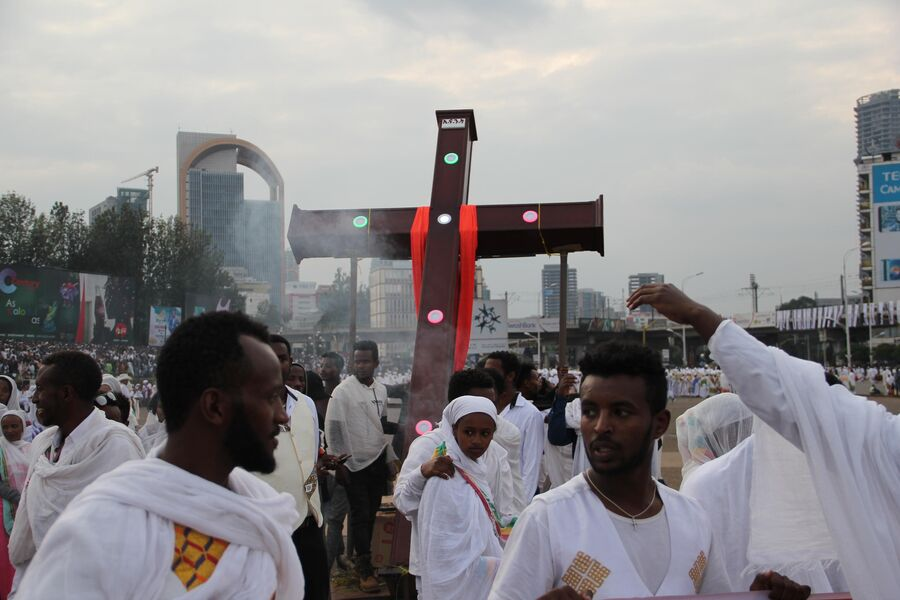 Праздник Мескель в Аддис-Абебе