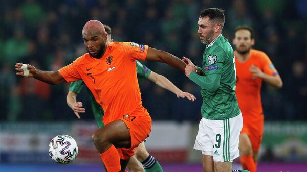 Игровой момент матча Северная Ирландия - Нидерланды