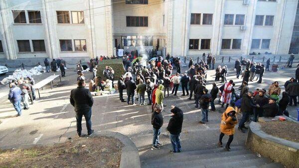 Акция протеста у парламента Грузии. 18 ноября 2019