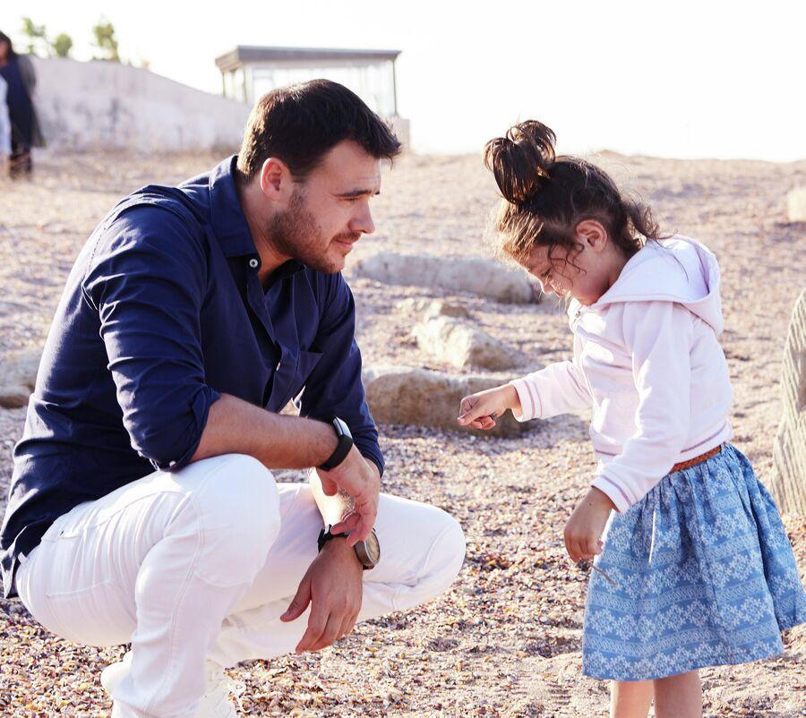 Эмин Агаларов с дочерью Аминой в Баку