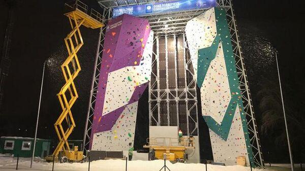 Шестнадцатиметровый скалодром в Барнауле