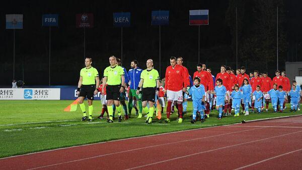 Футболисты сборных Сан-Марино и России