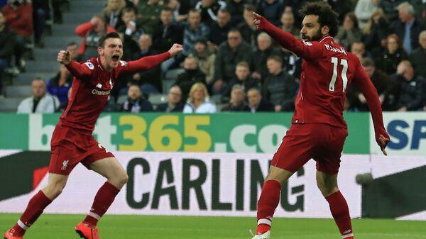 Футболисты Ливерпуля Салах и Робертсон