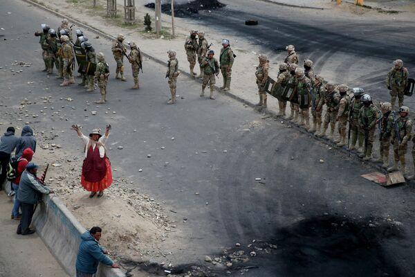 Сторонники бывшего президента Эво Моралеса в Эль-Альто, Боливия