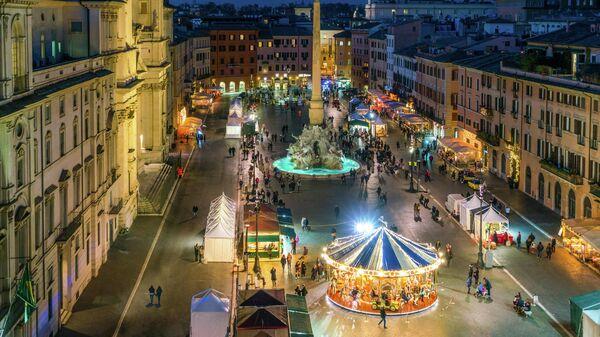 Рождественская ярмарка в Риме