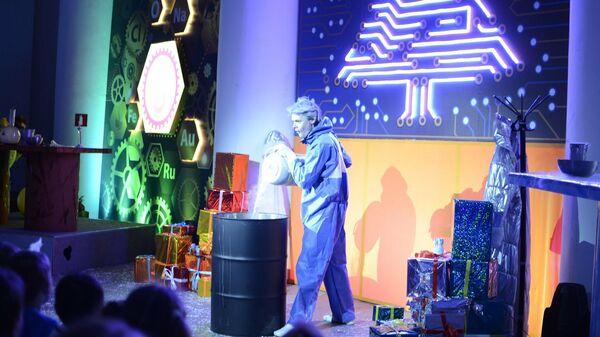 Робостанция на ВДНХ покажет новогоднее шоу Элементарная елка 2.0