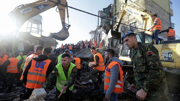Ликвидидация последствий землетрясения в Албании. 26 ноября 2019