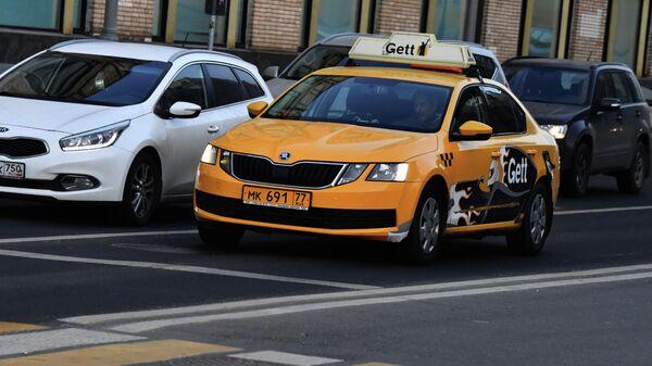 Автомобиль службы такси Gett