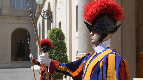 Солдат Швейцарской гвардии Ватикана