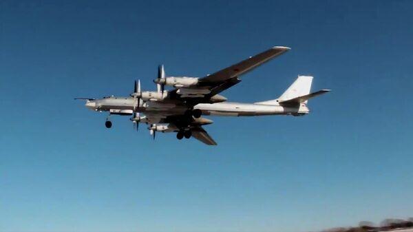 Стратегический ракетоносец ВКС России Ту-95МС выполнил плановый полет над нейтральными водами Японского, Желтого и Восточно-Китайского морей