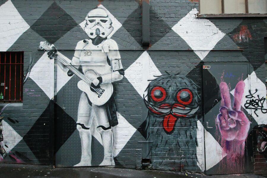 Граффити в Мельбурне, Австралия