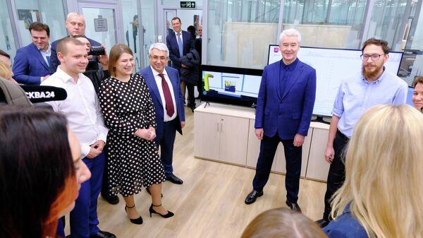 Мэр Москвы Сергей Собянин открыл инженерный центр Мосгаза