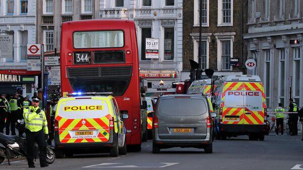 Полицейские на южной стороне Лондонского моста. 29 ноября 2019