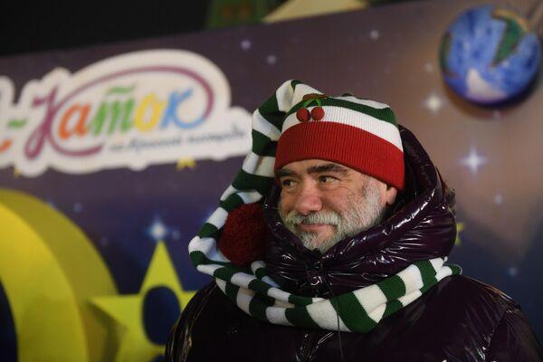 Глава группы компаний Bosco di Ciliegi Михаил Куснирович во время открытия ГУМ-Катка на Красной площади.