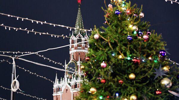 Новогодняя ель на Красной площади