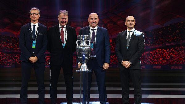 Маркку Канерва, Оге Харейде, Станислав Черчесов и Роберто Мартинес (слева направо)