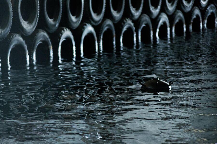 Макет мины в подземном канале объекта 825 ГТС в Балаклаве