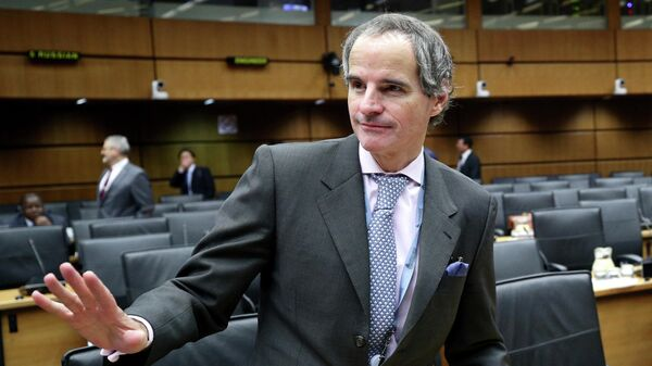 Рафаэль Гросси на заседании совета МАГАТЭ в Вене