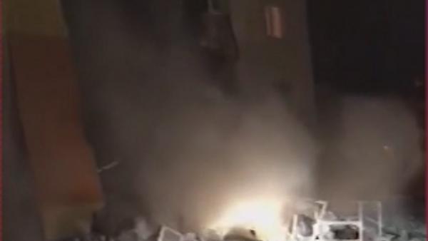 Момент обрушения жилого дома под Белгородом