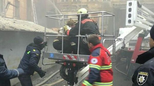 Пожар в Одесском колледже экономики, права и гостинично-ресторанного бизнеса