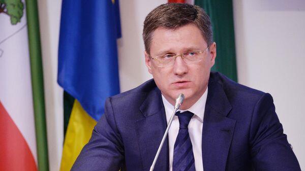 Министр энергетики РФ Александр Новак на пресс-конференции по итогам заседания стран-участниц соглашения о сокращении добычи нефти ОПЕК+