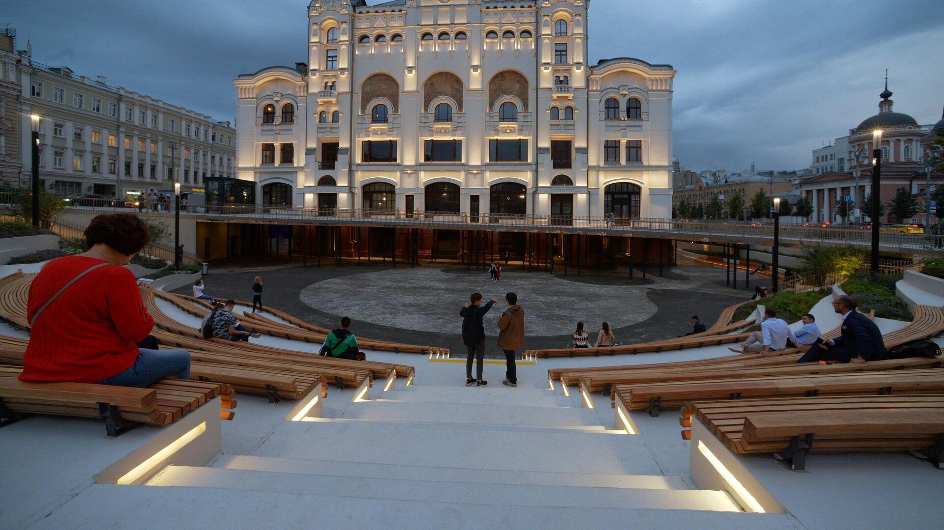 Новая пешеходная зона у Политехнического музея - РИА Новости, 1920, 09.12.2019