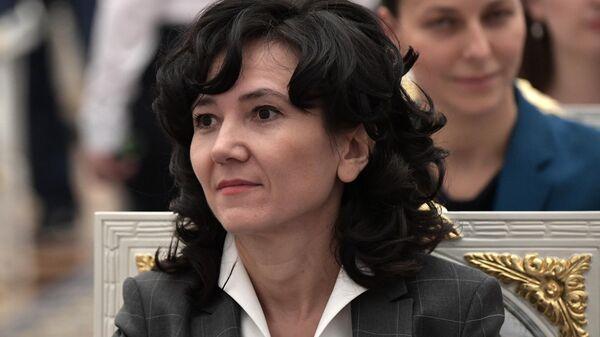 Лидия Михеева во время встречи президента РФ Владимира Путина с членами Общественной палаты