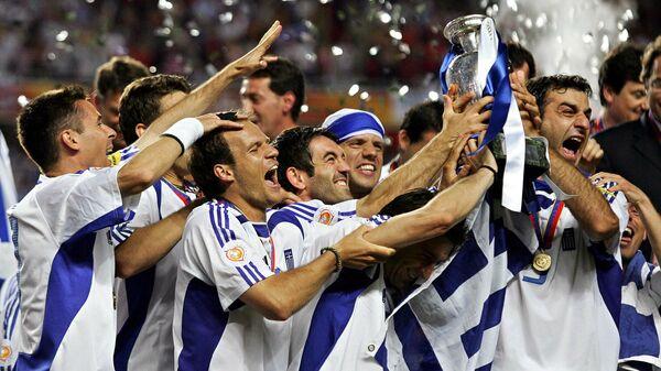 Футболисты сборной Греции на ЕВРО-2004