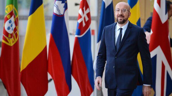 Шарль Мишель на саммите глав государств и правительств Евросоюза в Брюсселе