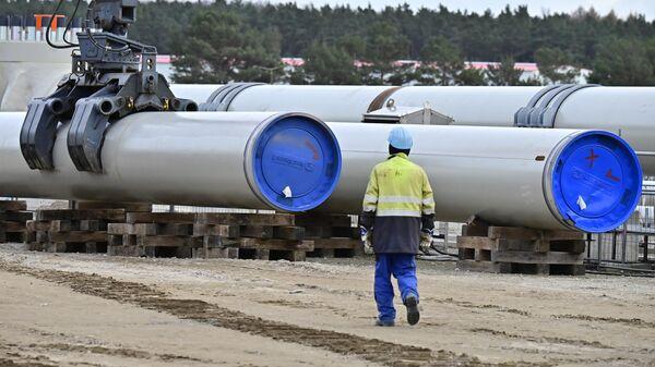 Строительство газопровода Северный поток-2 в Германии