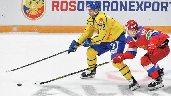 Матч Кубка Первого канала между хоккейными сборными России и Швеции