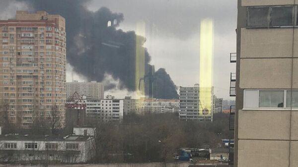Пожар на юге Москвы. 13 декабря 2019