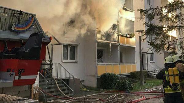 На месте взрыва в жилом доме в немецком Бланкенбурге. 13 декабря 2019