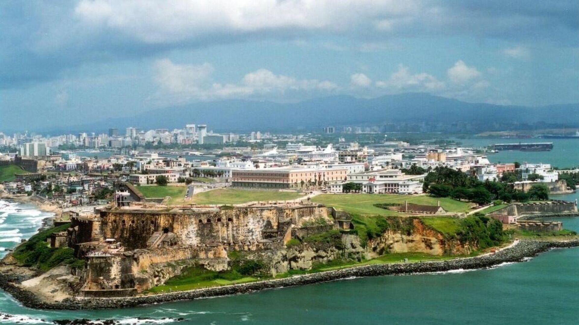 Вид на город Сан-Хуан с воздуха, Пуэрто-Рико - РИА Новости, 1920, 04.11.2020