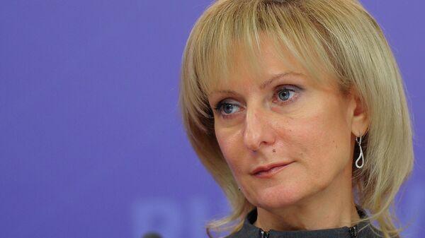 Инна Святенко на пресс-конференции в агентстве РИА Новости