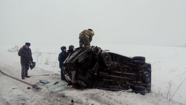 ДТП с участием маршрутки в Иркутской области. 19 декабря 2019