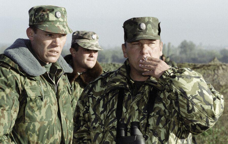 Командующий Западной группировкой Федеральных сил на Северном Кавказе генерал- майор Владимир Шаманов