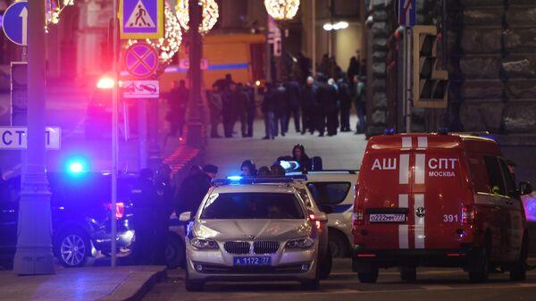 У здания ФСБ на Лубянской площади в Москве, где произошла стрельба